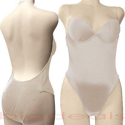 52a6e3aff8b Backless Full Body Shaper Bikini Convertible Seamless Low Back Max Cleavage  9008