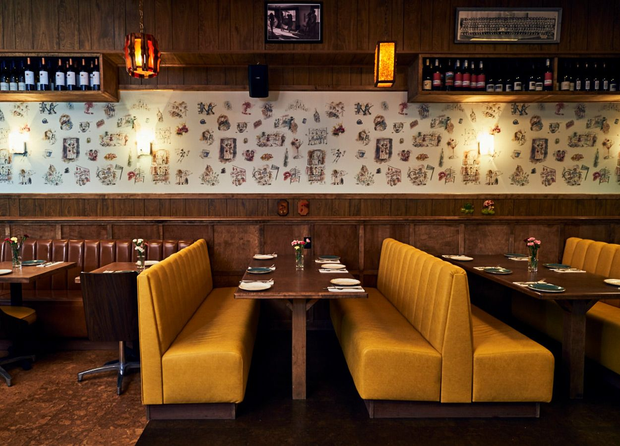 A manhattan restaurant fit for a house party surface