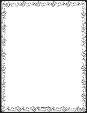 Wonderful Great For Formal Invitations And Elegant Correspondence, This Printable  Border Has Pretty Decorative Patterns. Free To Download And Print.