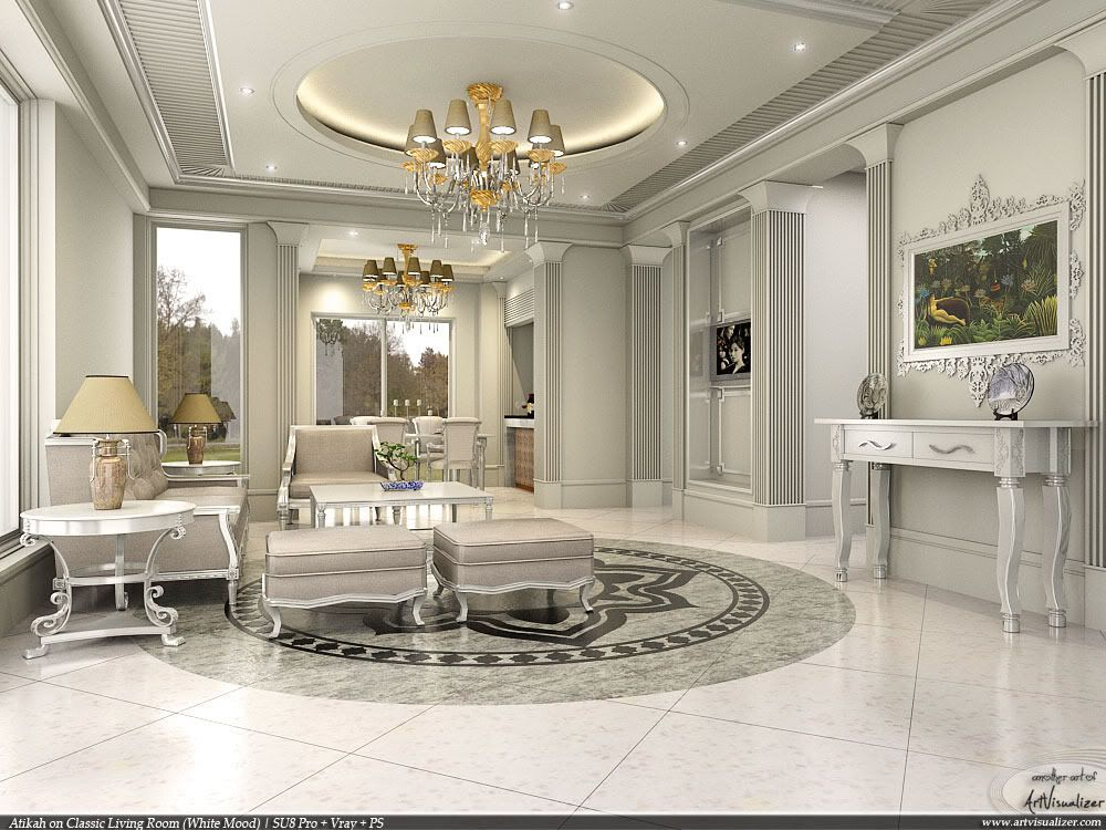 Best Depositphotos Interior Design Scene With A Classic White 400 x 300