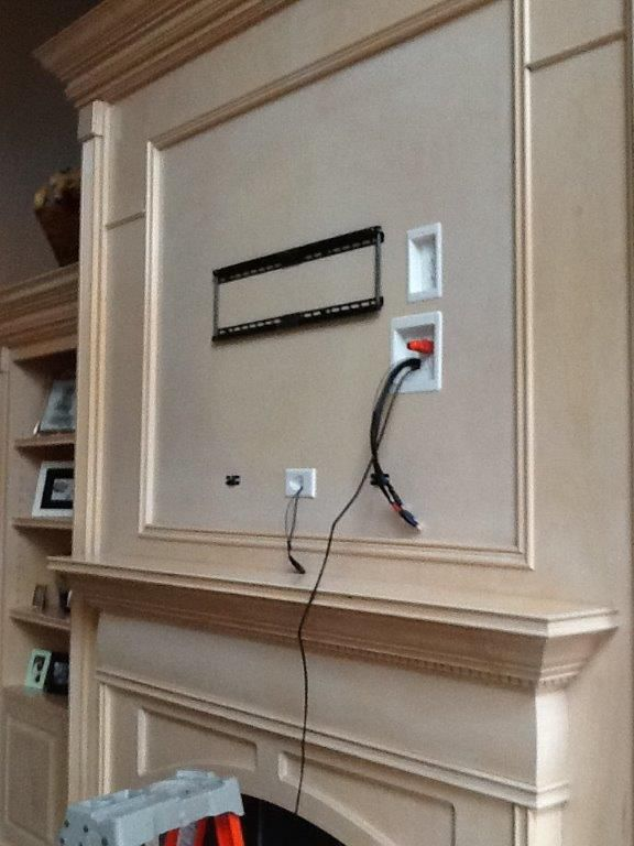 Te Certified On Hiding Tv Cords On Wall Wall Mounted Tv Tv