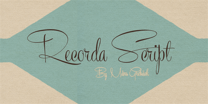 Recorda Script Personal Use OnlY (NO NUMBERS) font by Måns Grebäck - FontSpace