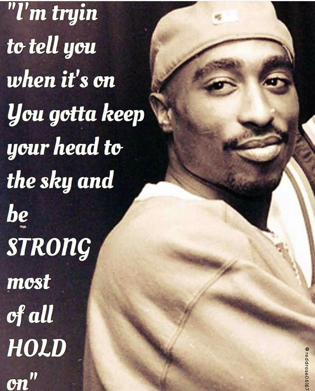 2pac quotes · Smiling through the scars on his face