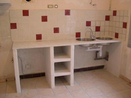 cuisine en siporex ou ciment cellullaire cuisine pinterest. Black Bedroom Furniture Sets. Home Design Ideas