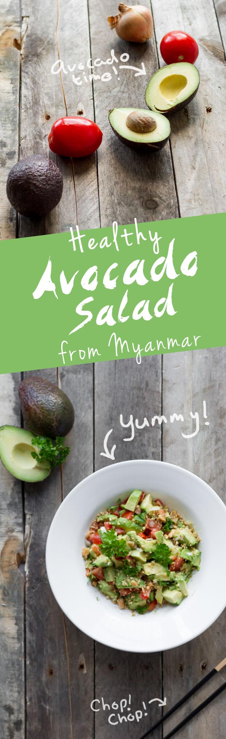 Avocado Salad Myanmar Recipe