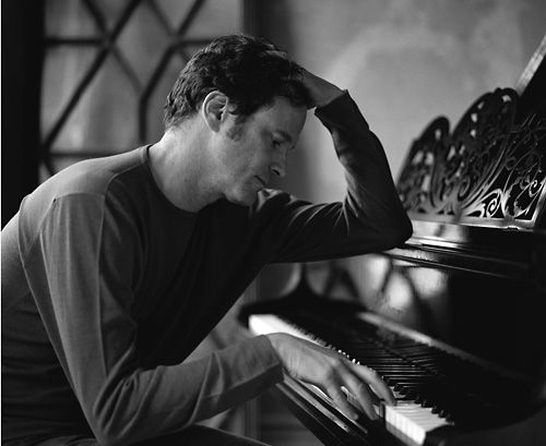 Love this one of Colin Firth playing the piano -- handsome *and* musical :)