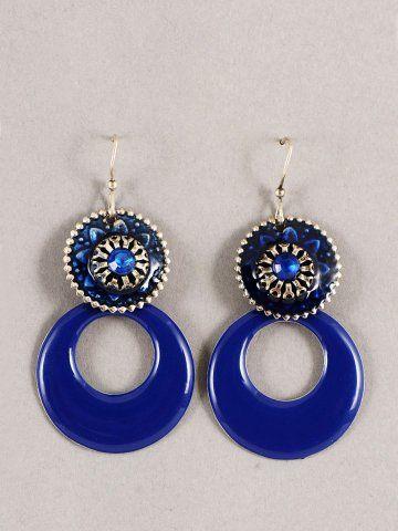 03e2246d8 Women Blue Earrings via myntra.com   s   Blue earrings, Earrings ...