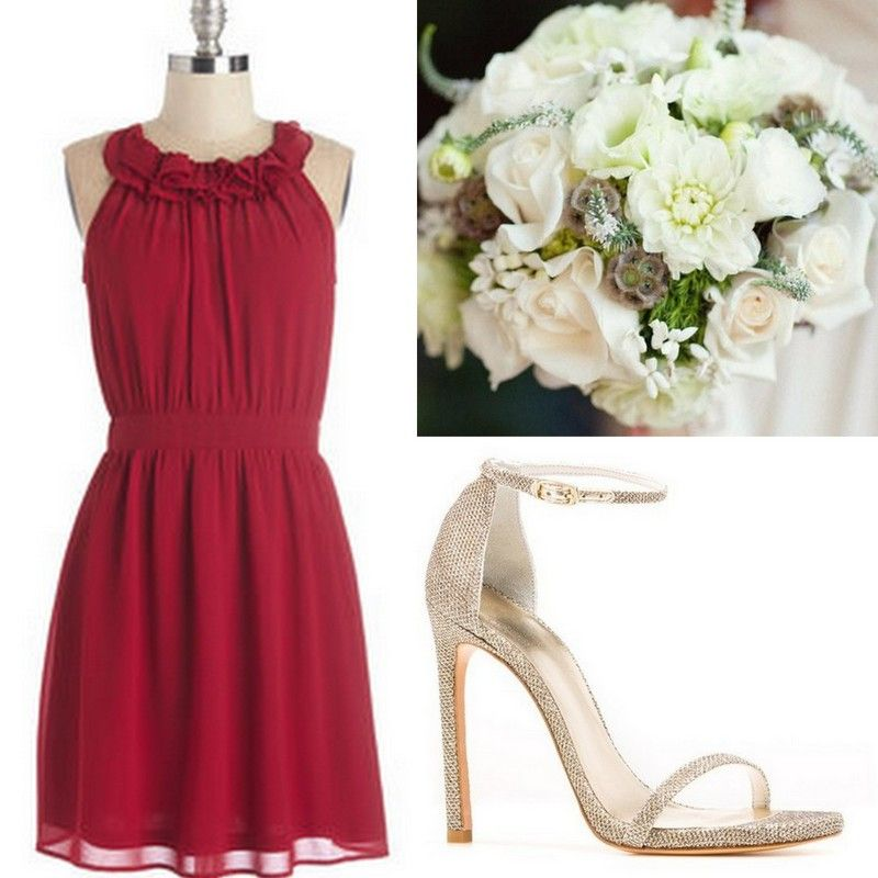 Cranberry Red Bridesmaid Dresses Ideas Real Wedding Planners