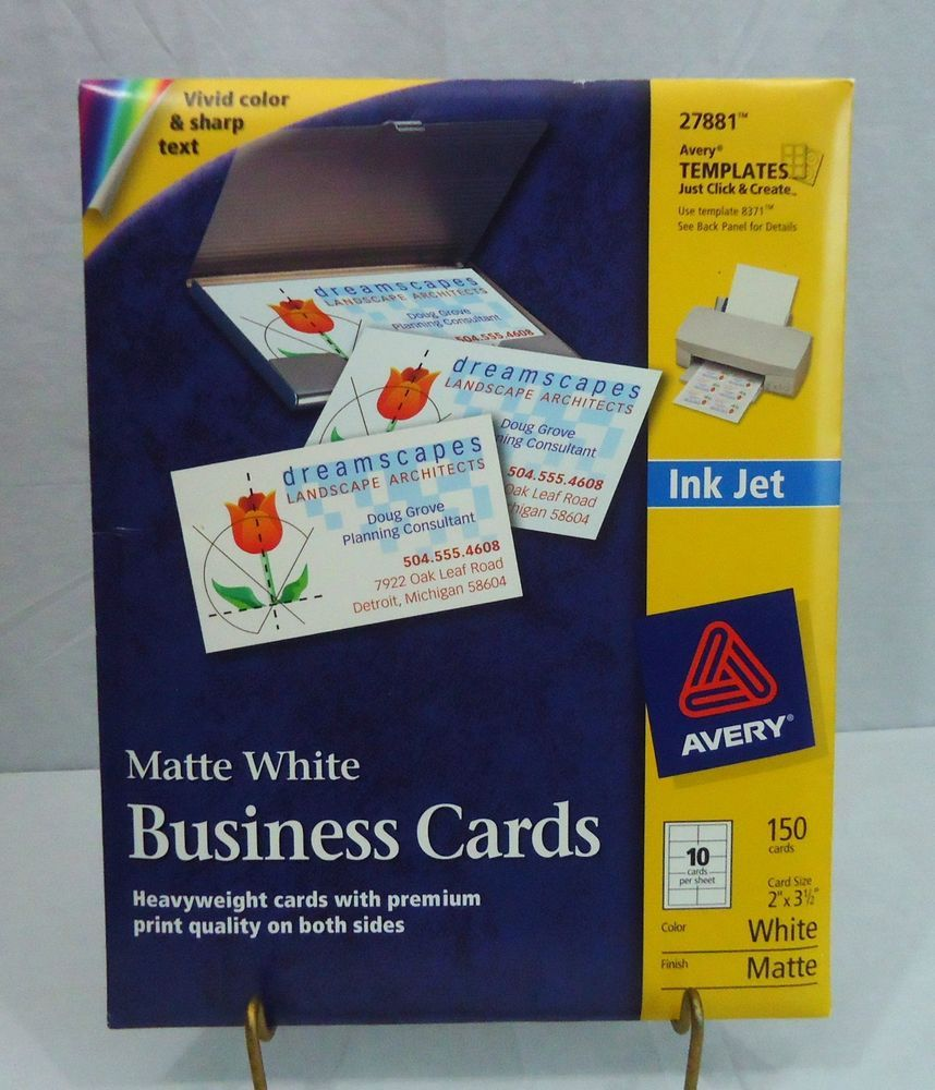 New avery 8371 white matte business cards 2 x 35 bonus sheets new avery 8371 white matte business cards 2 x 35 bonus sheets reheart Image collections
