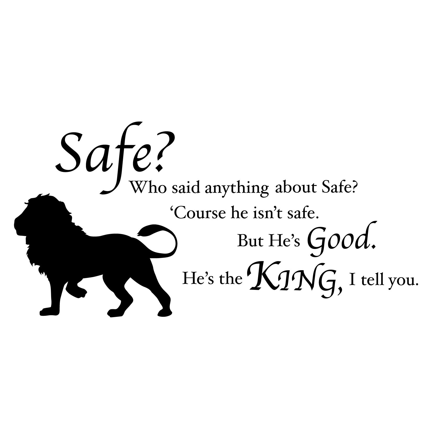 Chronicles of Narnia Aslan Safe Quote   Vinyls, Chronicles of ...