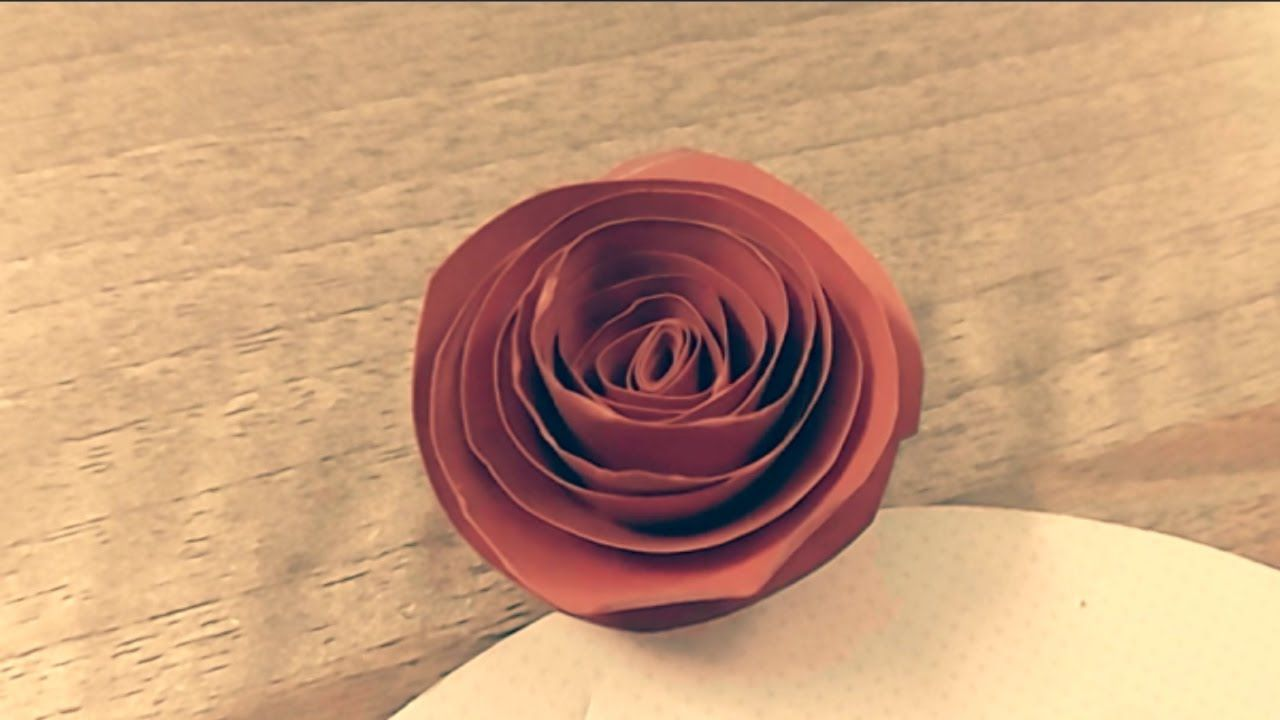 How To Make Rose Flower From Paper Tutorial Super Easy By Dzung