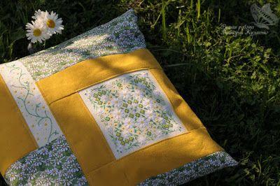 мое рукоделие:): Ромашковая подушка
