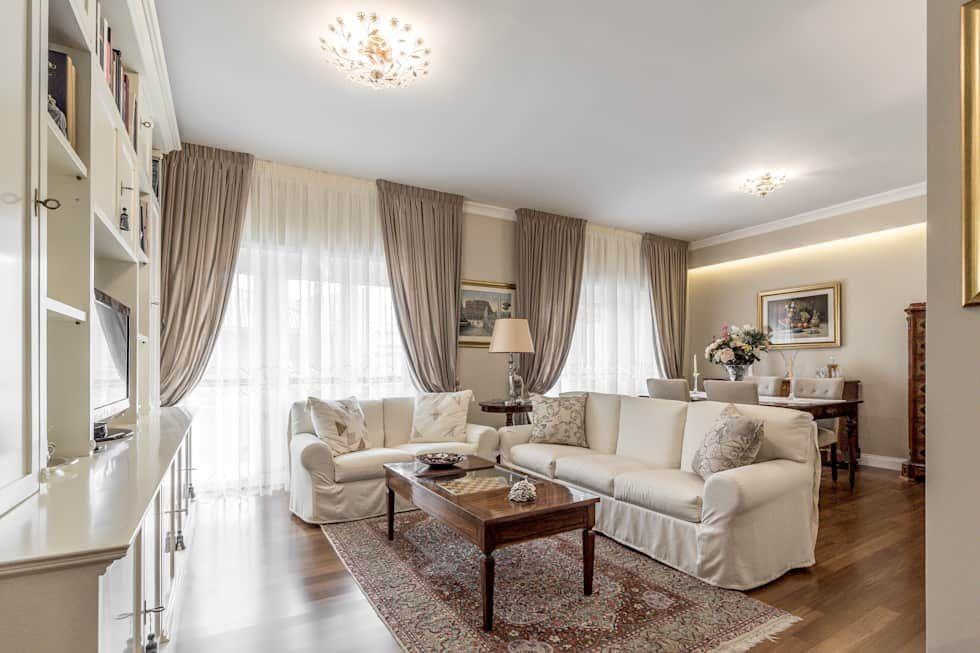 Photo of Soggiorno open space soggiorno classico facile da rinnovare classico | homify
