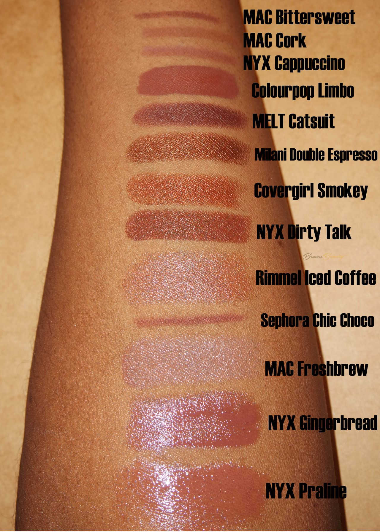 brxwnbeauty: working on a post of nude lipsticks for my brown
