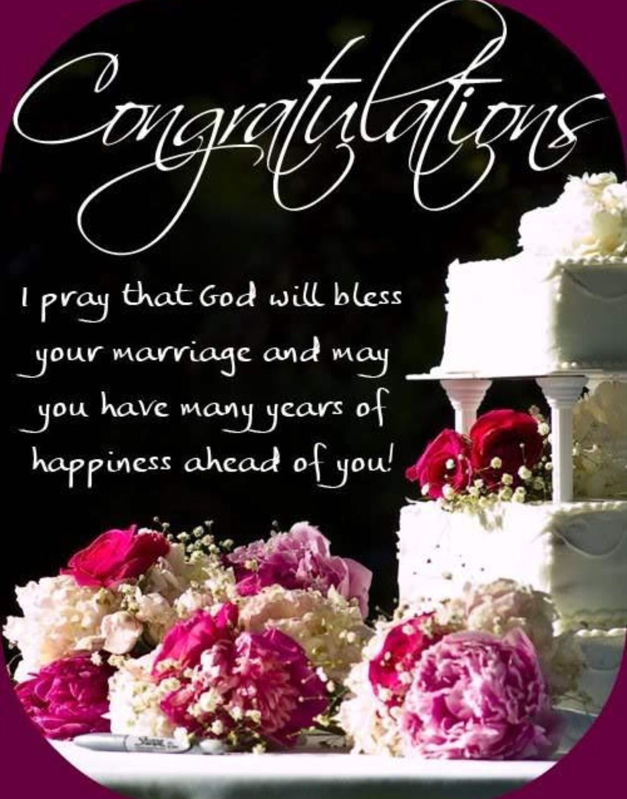 Congratulations Bride & Groom Happy marriage anniversary