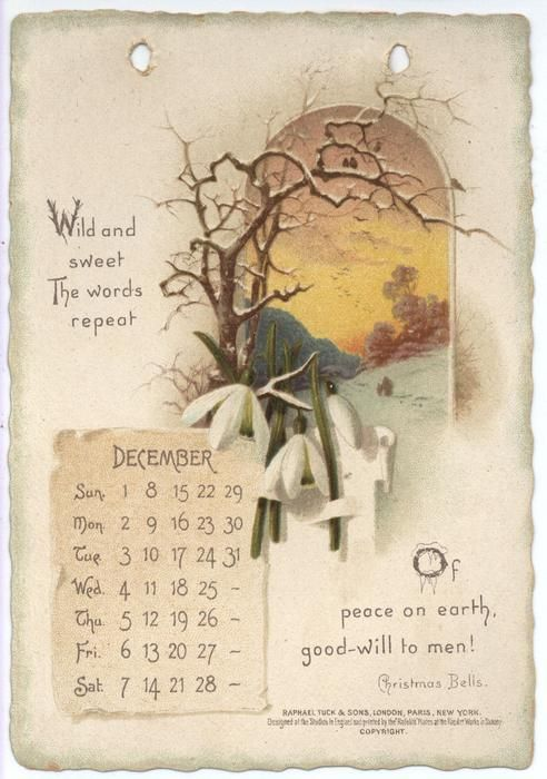 The Longfellow Calendar For 1895 Vintage Calendar Scrapbook