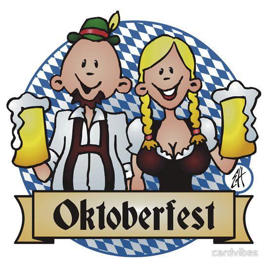 Oktoberfest sticker. #Redbubble #Cardvibes #Tekenaartje #SOLD