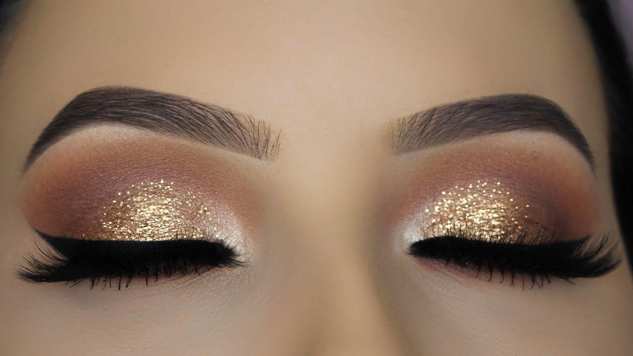 Classic Brown Glitter Eye Makeup Tutorial | Make-up ...