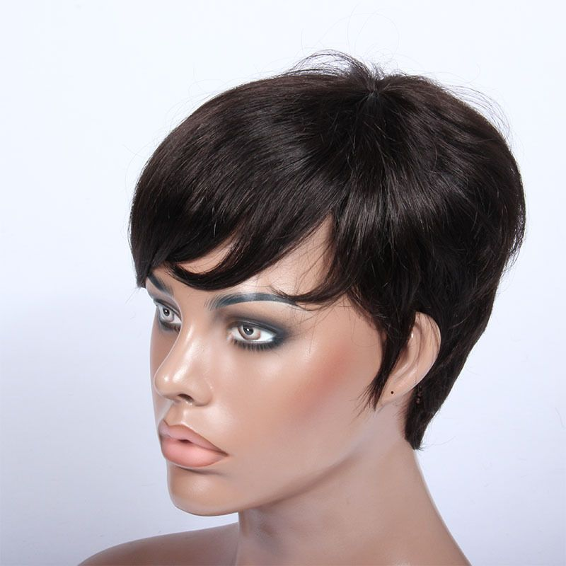 Short wigs focus the attention upwards, to the eyes, opening up ...