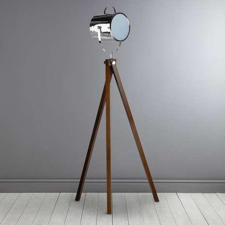 wooden camera floor lamp dunelm kitchen living dining. Black Bedroom Furniture Sets. Home Design Ideas