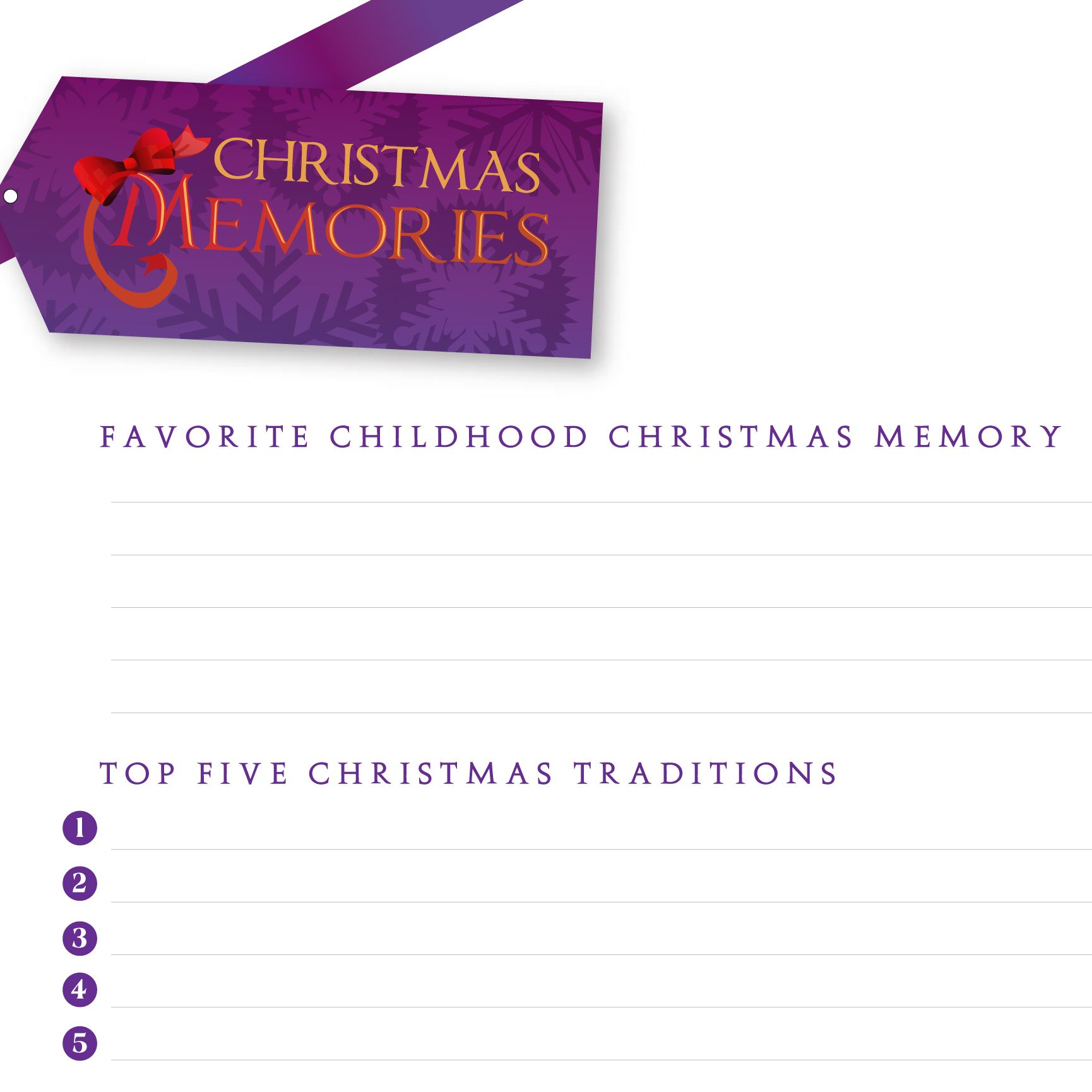 Christmas Memories Worksheet Remember Past Christmases