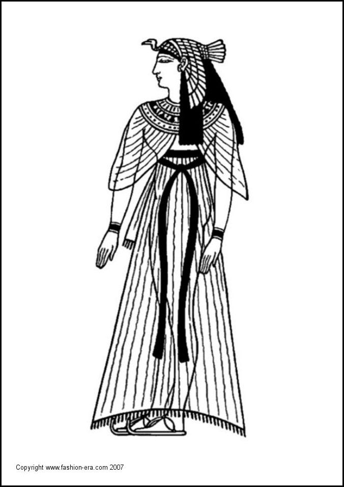 egyptian women coloring pages - photo#44