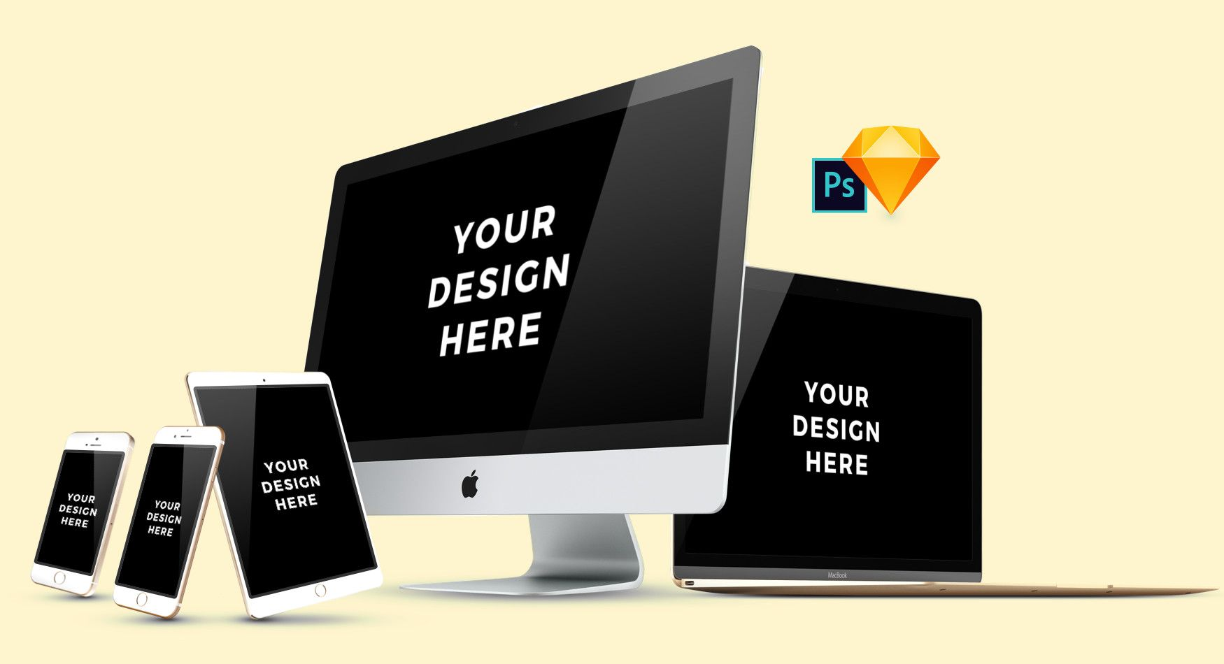 Smartmockups Apple Devices Pack Free PSD Psd, Free
