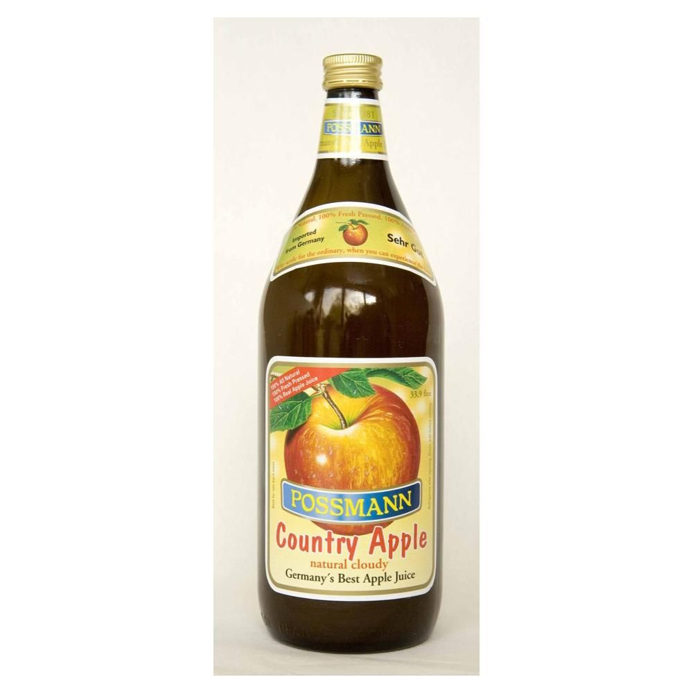 Possmann Naturally Cloudy Country Apple Juice 1 Liter