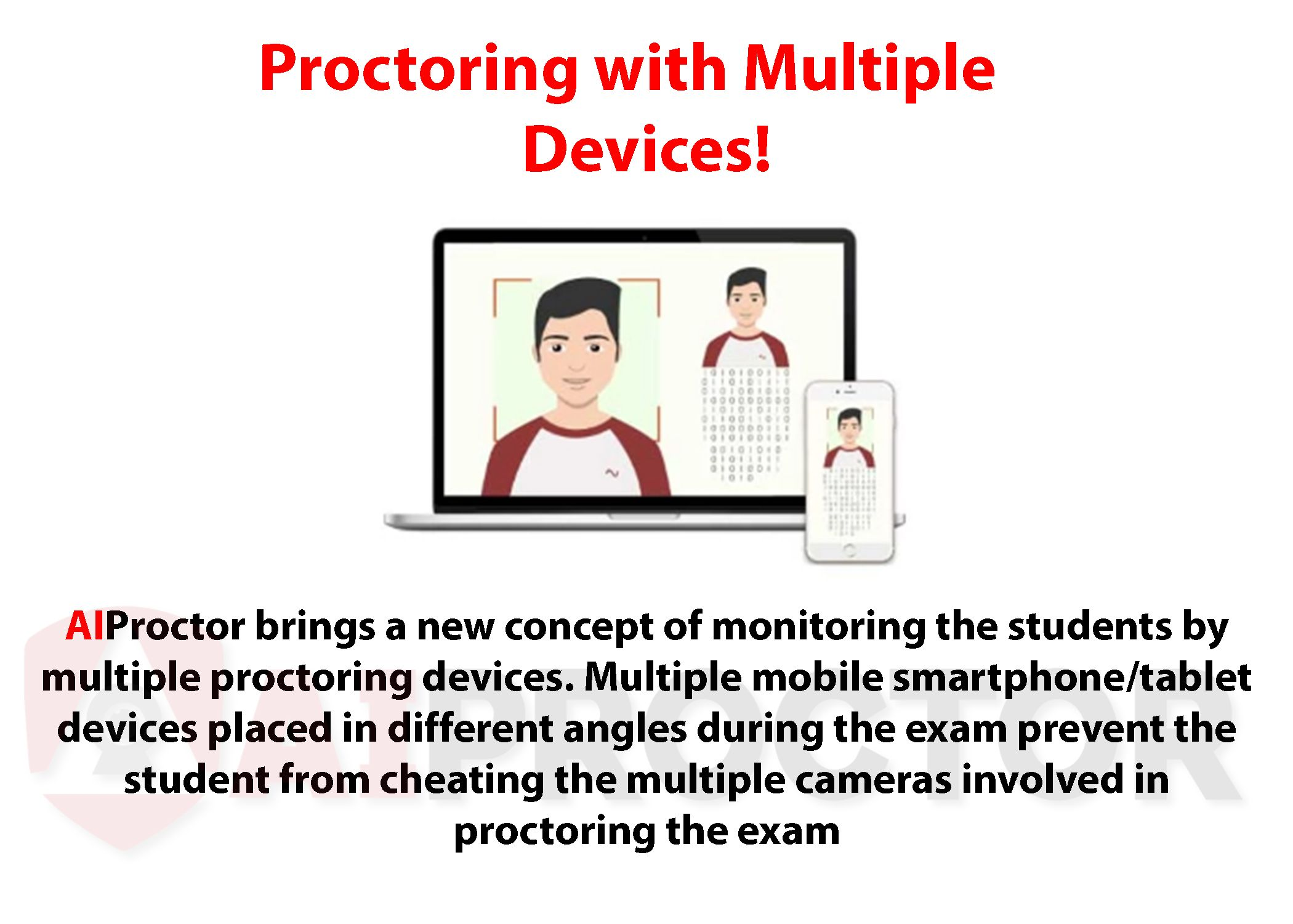 Proctoring with multiple devices aiproctor proctoring