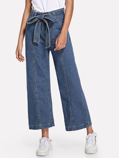 Photo of Pantaloni a gamba larga con tasca a cintura – Sheheide (Sheinside)
