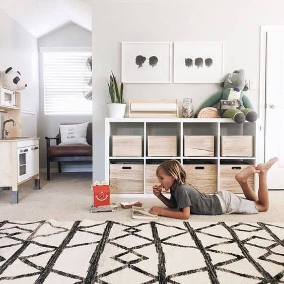 Minimalist Playrooms that will Convince You to Get Rid of the Toys is part of Children room boy - Whether you are looking for design inspiration or are in need of some motivation to declutter your playroom these images are sure to satisfy  Below you will find tons of creative and clutterfree minimalist playrooms  Take a look! Minimalist Playroom Ideas Let me guess    The toys are taking over your house  Isn't it funny that you create a playroom to keep the toys contained, yet the toys end up spread all over the house  Well, hopefully you've realized that the problem is that there are simply too many toys And ya know what  Having tons of toys doesn't just prevent you