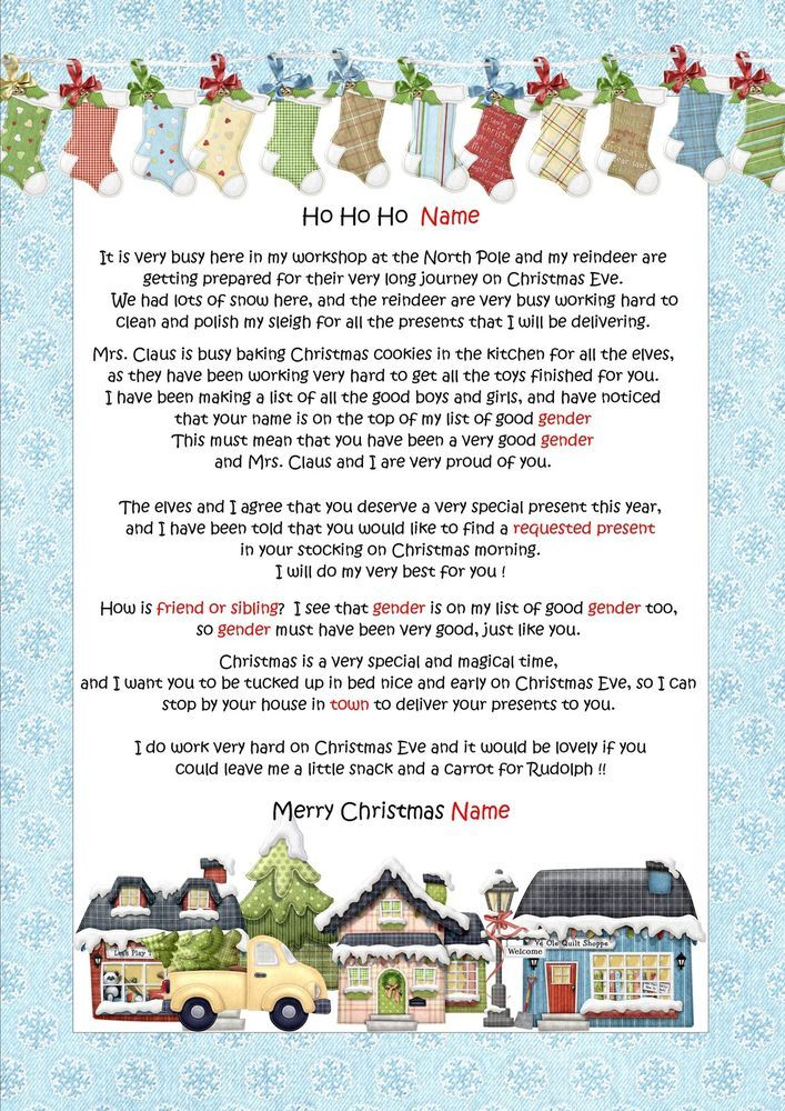 Personalised letter from santa father christmas north pole personalised letter from santa father christmas north pole envelope d13 spiritdancerdesigns Choice Image