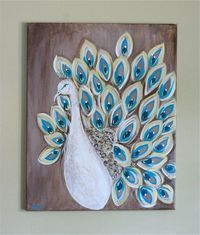 I Love Painting Peacock Feathers Like This Simple Version So Pretty