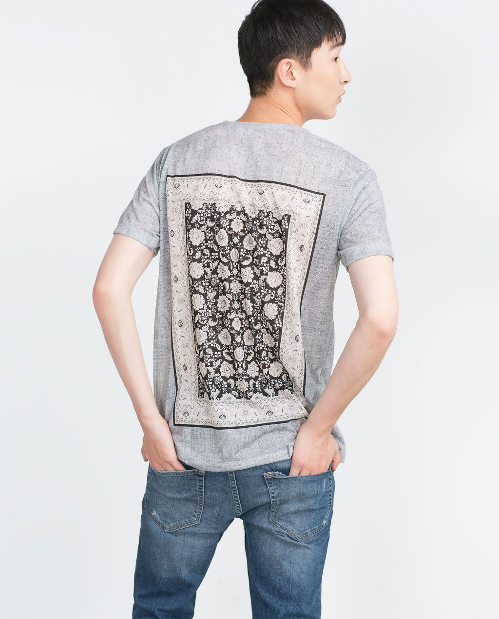 Zara black t shirt india - Latest Fall Winter Trends For Men S T Shirts At Zara Online Find Long And Short Sleeve White Black Graphic Plain Crew And V Neck T Shirts For Men