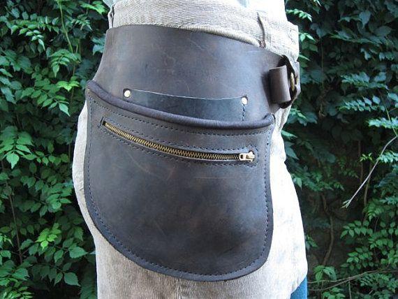 Leather Hip Belt by WheelerMunroe on Etsy