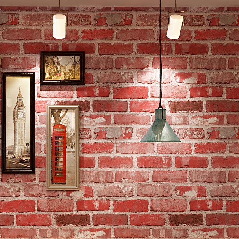 3d Brick Pattern Pvc Waterproof Thickened Vinyl Wallpaper For Cafe Bar Restaurant Indoor Wall Decor Red Brick Pattern Wallpaper Brick Patterns Vinyl Wallpaper