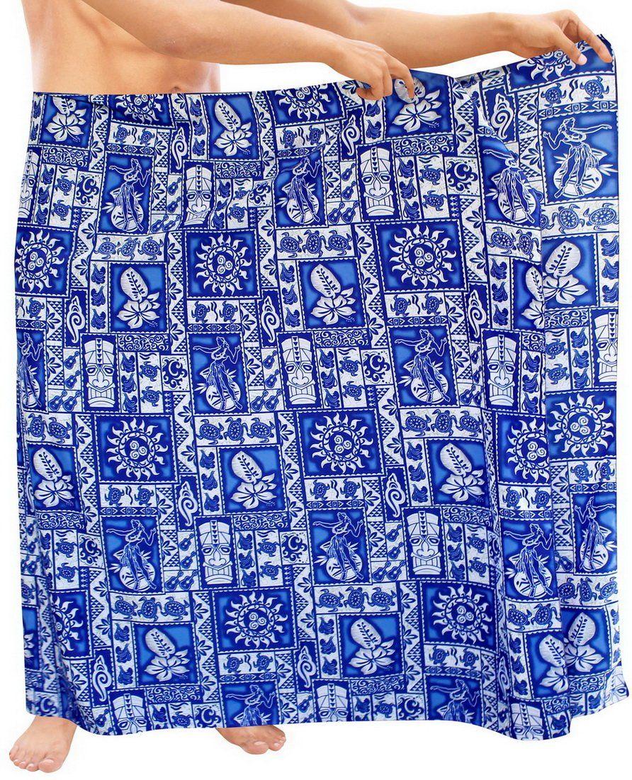 473d0624ef9e2 LA LEELA Men Sarong Soft Light Printed Swimwear Casual Pareo Mens 72