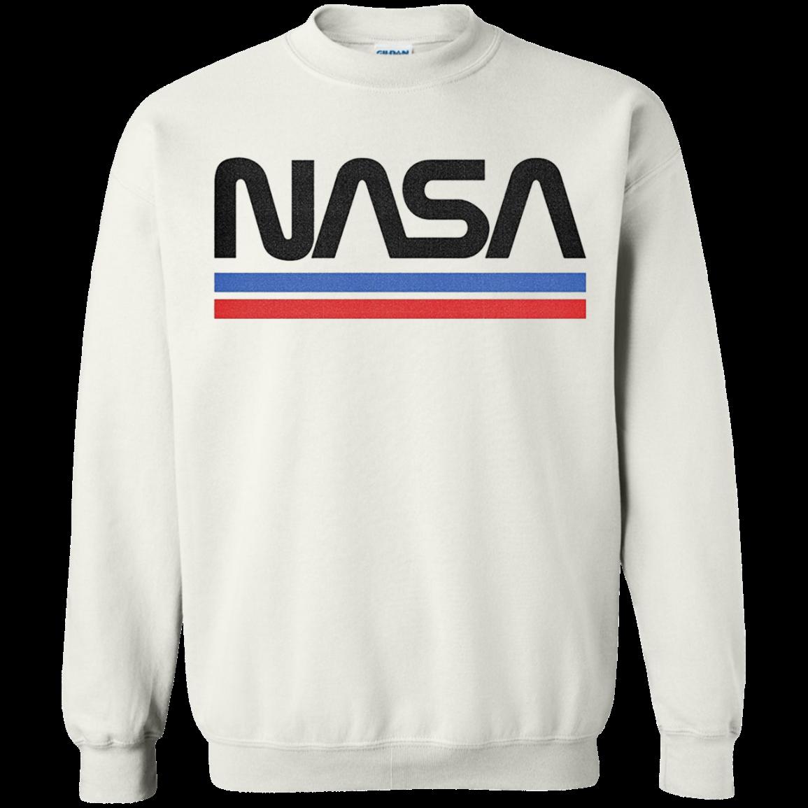 Nasa Red Blue Stripe Minimal Logo Vintage T Shirt Hoodie Sweater Hoodie Shirt Nasa Shirt Shirts
