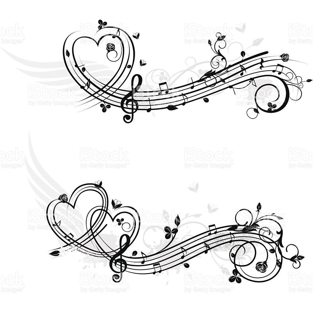 Themen Musik-design-Elemente-Liebe Lizenzfreies vektor illustration