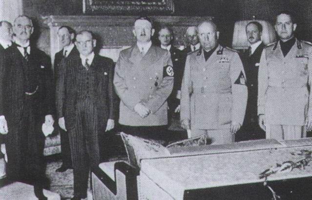 El Pacto de Munich (septiembre 1938)