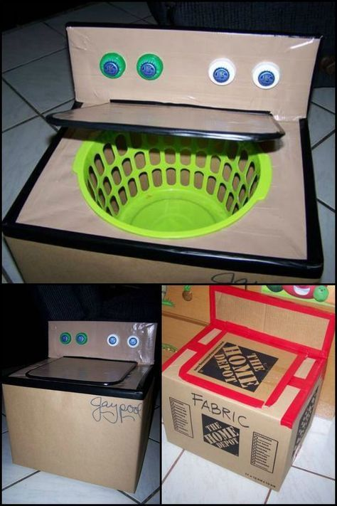 This diy cardboard washing machine is a great addition to your kids this diy cardboard washing machine is a great addition to your kids playhouse solutioingenieria Choice Image
