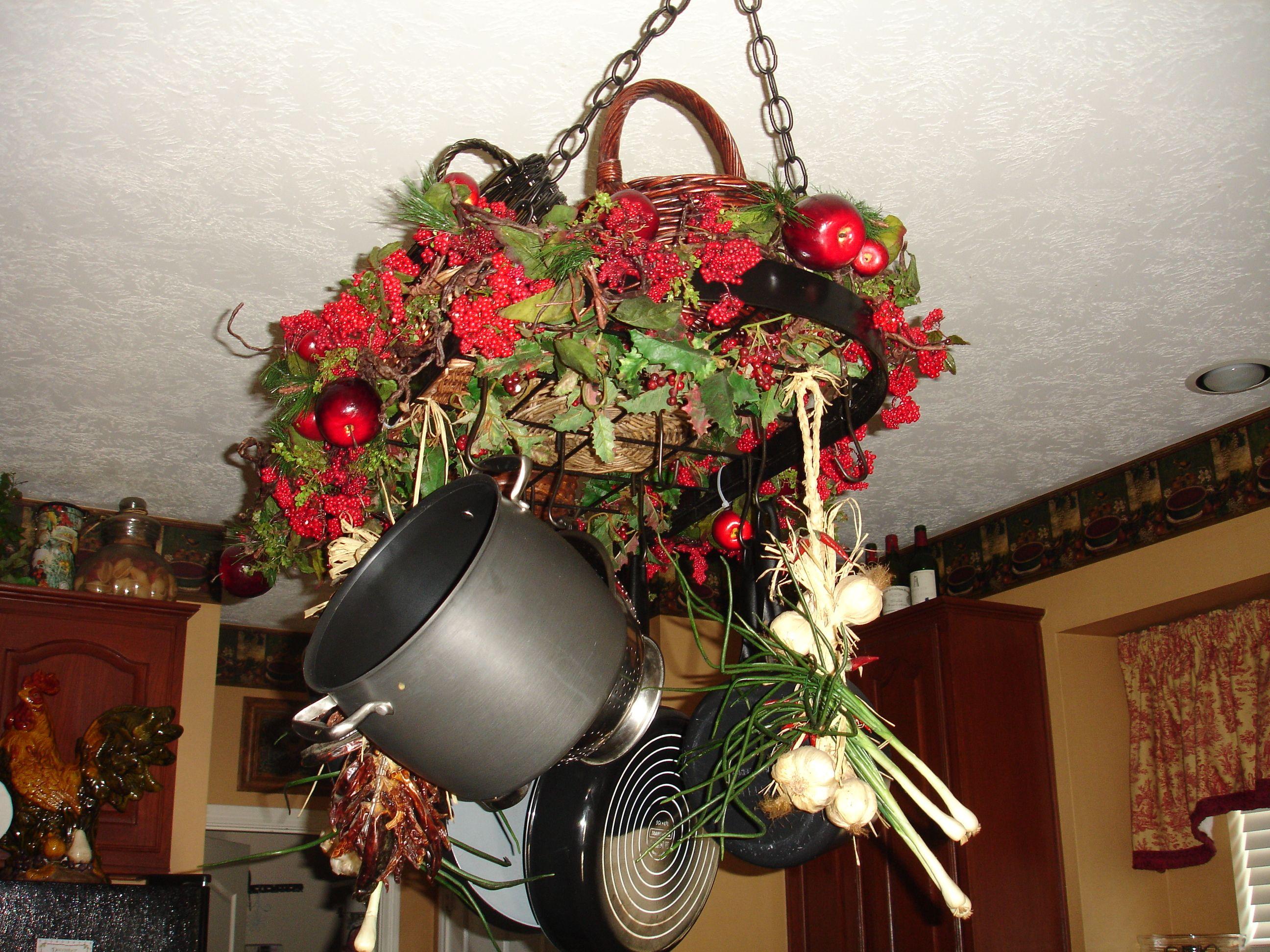 Pot Rack | Christmas decorations, Decor, Pot rack