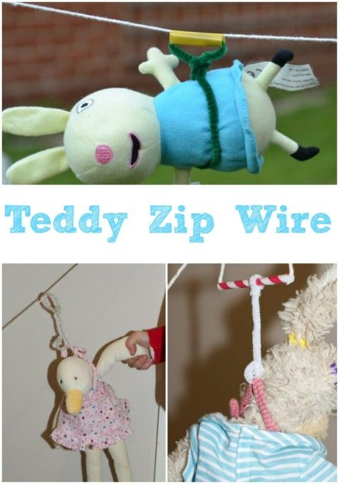 Make a teddy zip wire