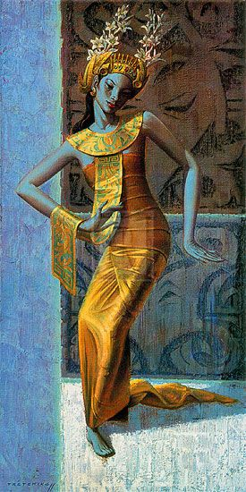Balinese Dancer - Tretchikoff - This study, posed by Polock, typifies the…