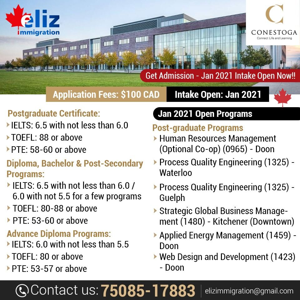 Get Admission January 2021 Intake Open Conestoga College Kitchener Ontario In 2020 Graduate Program Admissions Human Resource Management