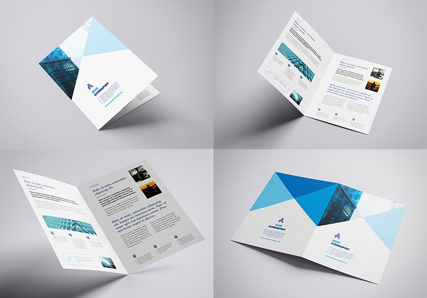 This Time A4 Bifold Leaflet Prepared In Four Separated Psd Files With Customizable Color Background Brochure Mockup Psd Mockup Free Psd Photoshop Mockup Free