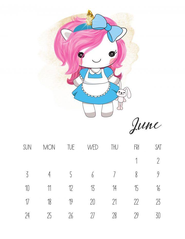 Calendario 2018 de Unicornios para Imprimir Gratis. | Ideas y ...