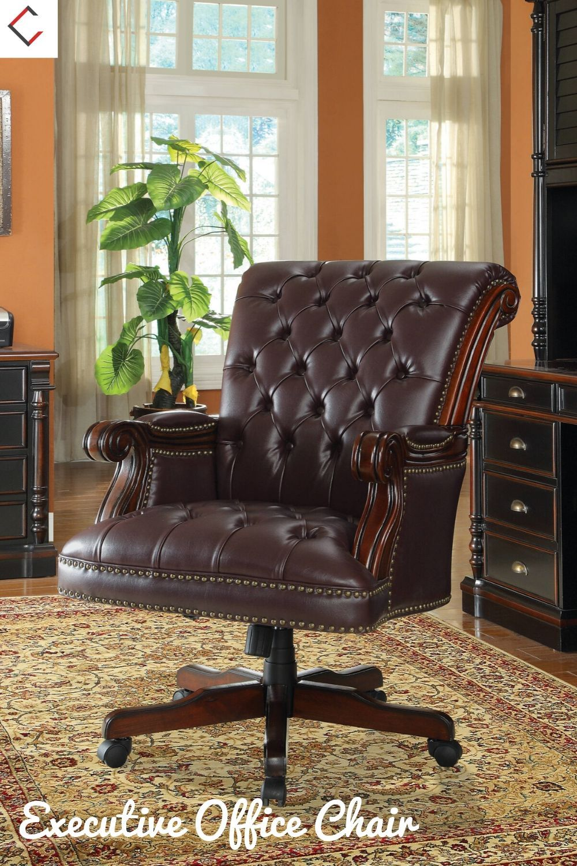 Coaster Furniture Burgundy Wood Nailhead Executive Office
