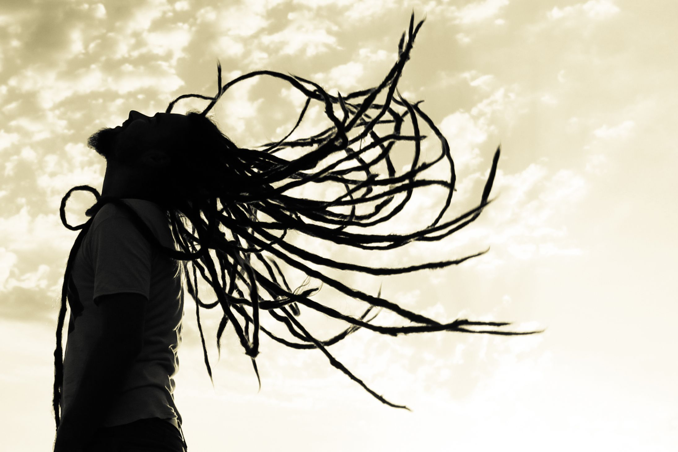 Image result for man long dreads silhouette