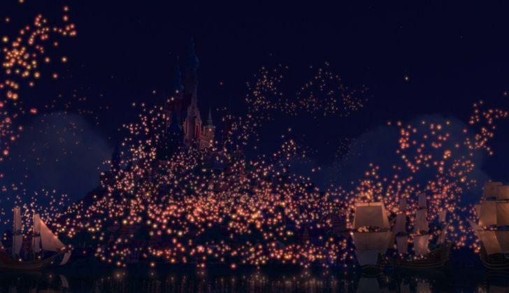 Disney Company Movies Night Lights Lanterns Tangled Rapunzel 1876x1080 Wallpaper High Resolution Wallpaper